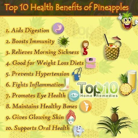 Top 10 Health Benefits of Pineapples   Top 10 Home Remedies