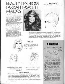farrah haircut and diagram how to get a farrah fawcett haircut everything vintage