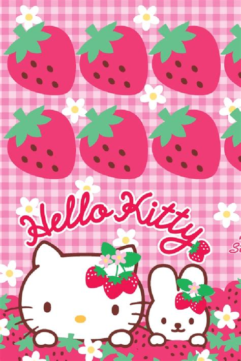 hello kitty kitchen wallpaper 101 best images about kawaii strawberries on pinterest