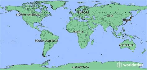 japan on the world map where is japan where is japan located in the world