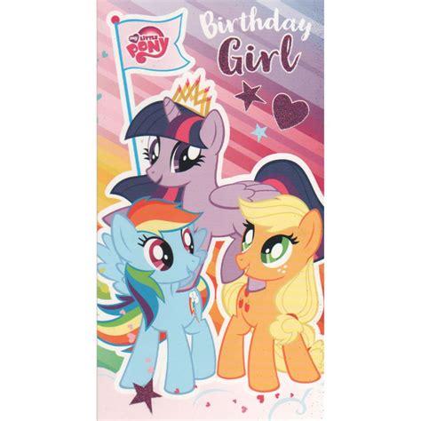 My Pony Birthday Cards My Little Pony Birthday Girl Card Mp015 Character Brands
