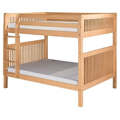 Solid Wood Bunk Beds With Trundle Review Camaflexi Mission Style Solid Wood Bunk Bed With Trundle And Side Attached Ladder