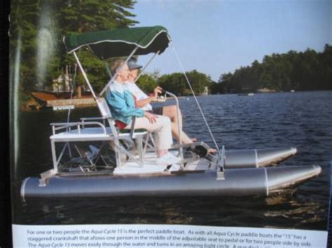 used aluminum paddle boats for sale aluminum aqua cycle paddle boat boats for sale