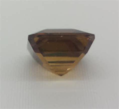 Sherry Topaz 10 02 Ct topazio marrone 10 02 cts scintillante taglio smeraldo 100