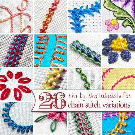 embroidery applique tutorial 26 tutorials for chain stitch variations must makes