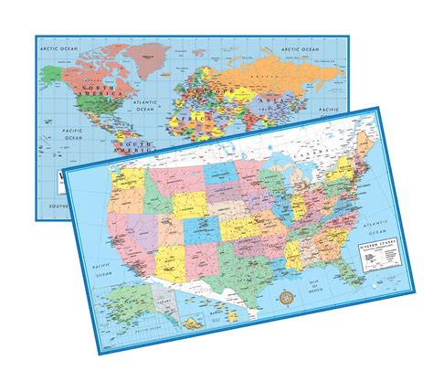 world usa educational intermediate level 5 12 wall map set