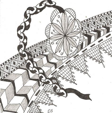 Zentangle New Pattern | hunkey dorey land busy week 2 knitting projects new