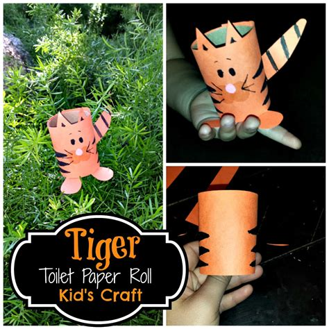 Easy Crafts With Toilet Paper Rolls - diy easy tiger toilet paper roll craft for crafty