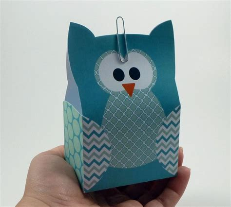 bag crafts diy owl gift bag template turquoise by littlestuffme