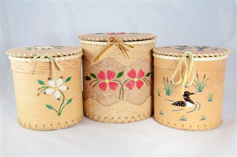 Handmade Cosmetics Supplies - large birch baskets acho dene crafts