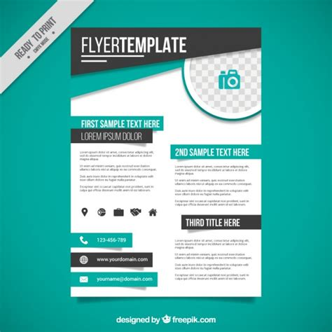 Free Simple Flyer Templates simple corporative flyer template vector free