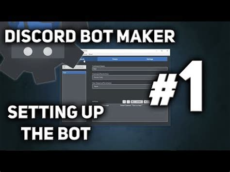 discord bot tutorial discord bot maker tutorial 1 setting up the bot youtube