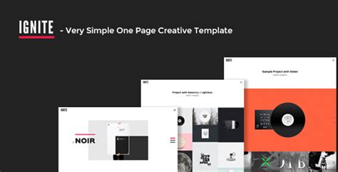 themeforest one page html template themeforest ignite very simple one page creative html