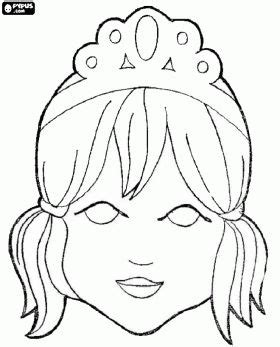 princess mask coloring pages 20 best images about printable masks for print on
