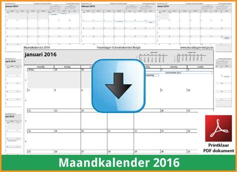 Blanko Kalender 2016 Kalenders 2016 Gratis Downloaden En Printen Feestdagen