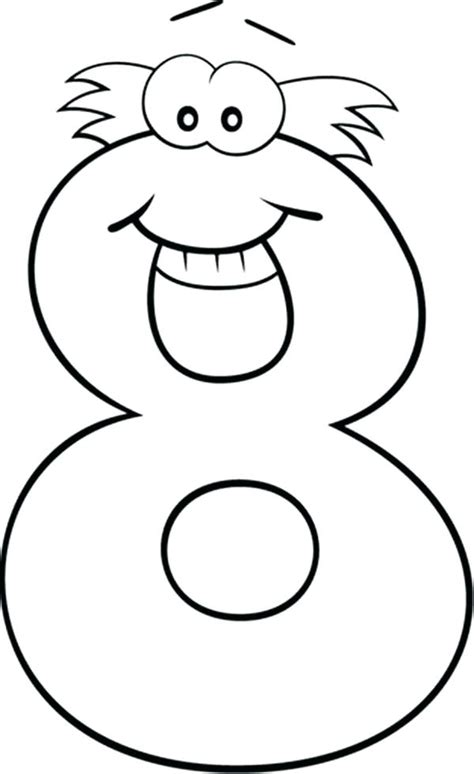 Number 8 Coloring Page by Number 10 Coloring Pages Sendflare Co