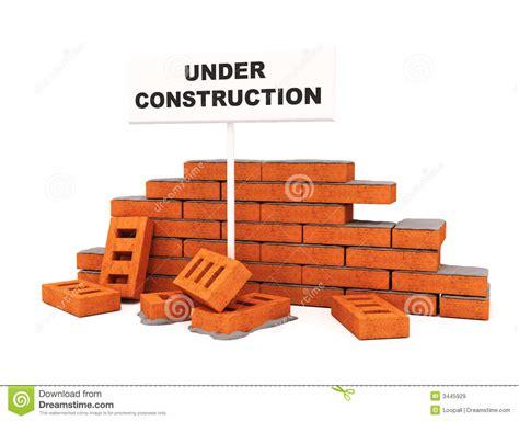 brick wall construction royalty free stock images