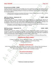 Resume Templates For Daycare Teachers Preschool Resume Sle Page 2