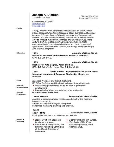 How To Write A Resume Trade 10 time resume with no experience sles best