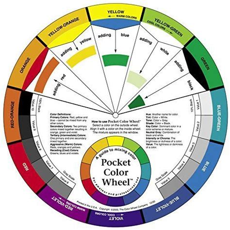 color wheel small color mixing guide 3501 ebay