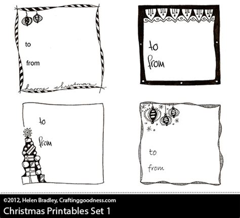 printable christmas tags black and white free download printable gift tags for christmas giving