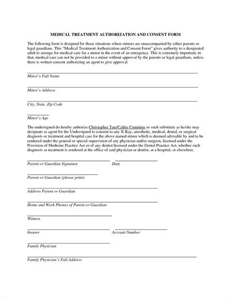 Parental Consent Letter For Doctor Consent Letter For Grandparents 3591675 Png Pay