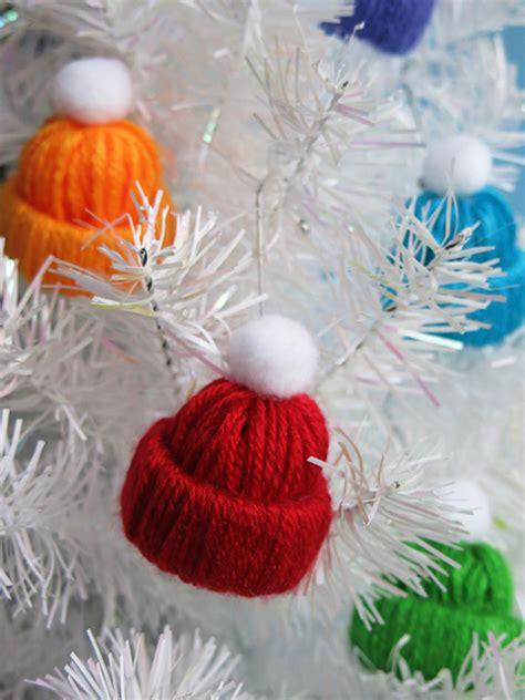 make it miniature winter hat yarn craft left on