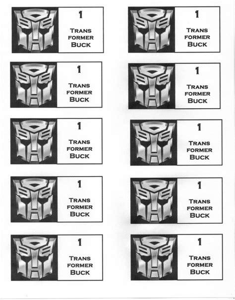 printable reward chart transformers transformer reward bucks for use with a reward system