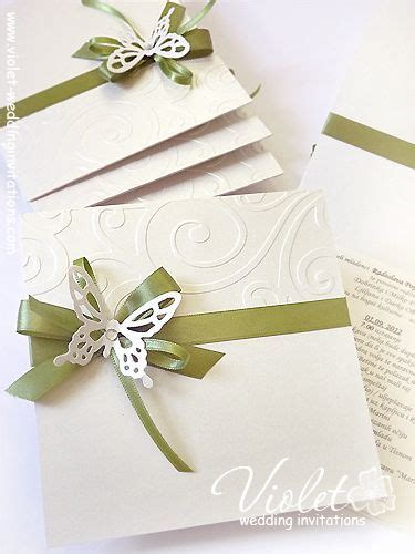 Handmade Invites Wedding - quot finesse quot wedding invitation violet handmade wedding