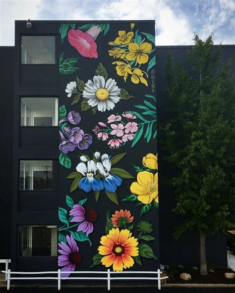 graffitis  murales de flores de ouizi murales mural de