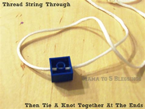 lego necklace tutorial lego necklace tutorial mama to 6 blessings
