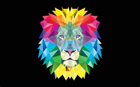 colorful geometric wallpaper colorful geometric lion wallpapers colorful geometric