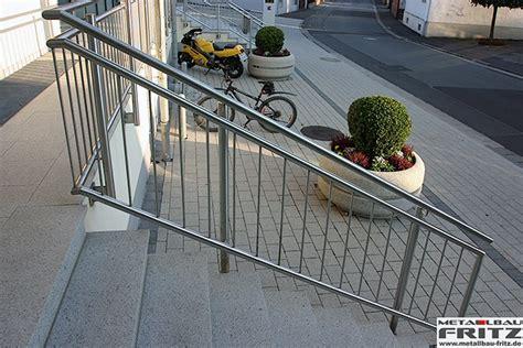 Treppengeländer Edelstahl by Metallbau Fritz Edelstahl Treppengel 228 Nder Au 223 En 08 05