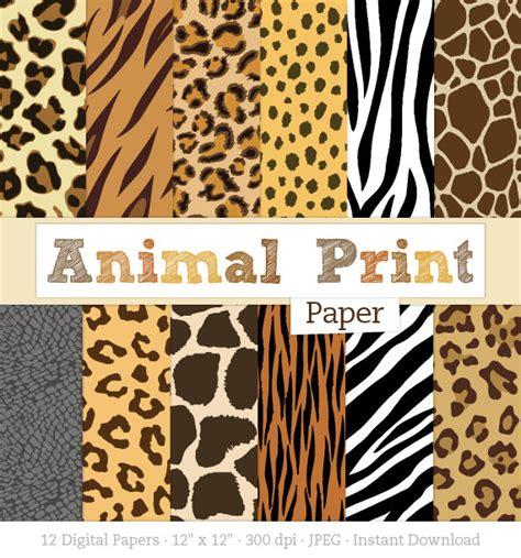 printable animal skin paper animal print digital paper pack zebra print leopard print
