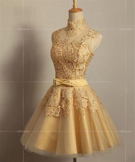 aliexpress com buy bridal short evening dress gold