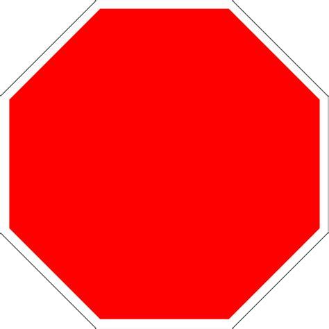 stop sign template blank stop signs clipart best