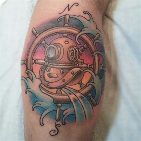 diving helmet tattoo diving helmet by christel perkins tattoos