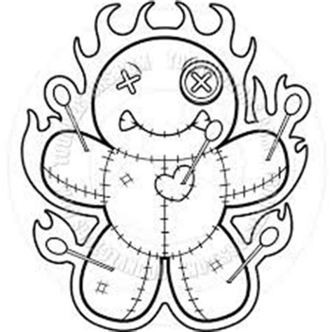 Voodoo Doll Coloring Pages