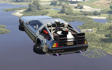 mod gta 5 flying delorean dmc12 bttf2 flying add on gta5 mods com