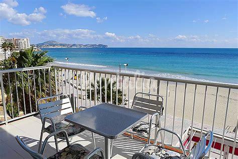 apartamento en alquiler en  linea de playa pla del mar teulada alicante costa blanca