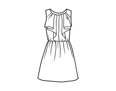 coloring book dress cocktail dress coloring page coloringcrew