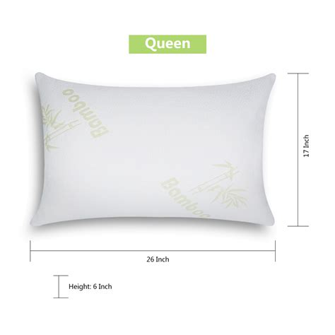 Bamboo Pillow by Shredded Memory Foam Bamboo Pillow Zippered Cover Bamboo