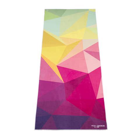 design lab yoga mat towel 1 geo yoga towel full