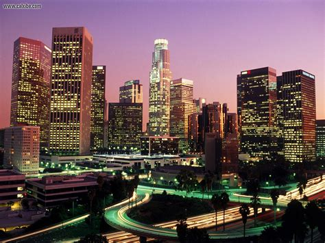 California Lighting by Buildings City La Lights California Picture Nr 15878