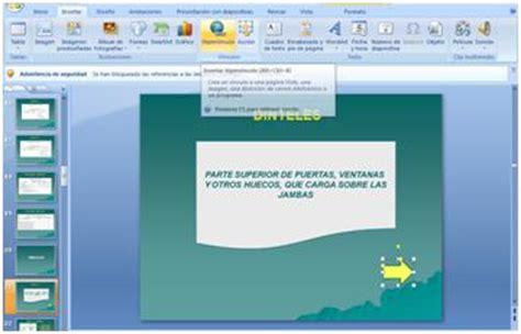 tutorial de powerpoint 2010 hipervinculos alexandra benitez