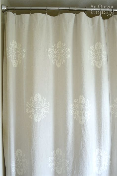 stenciled drop cloth curtains drop cloth shower curtain curtain menzilperde net