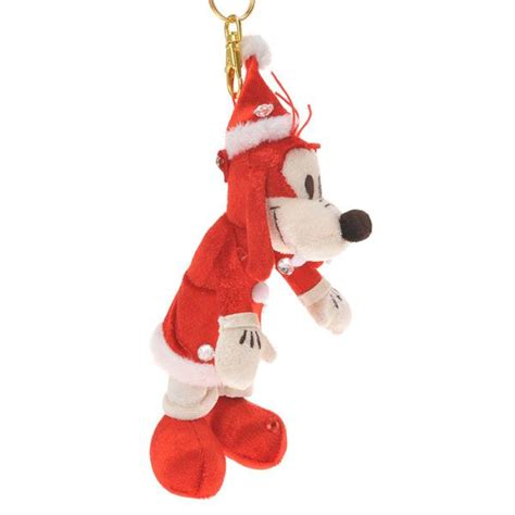 goofy christmas plush doll key chain disney store japan