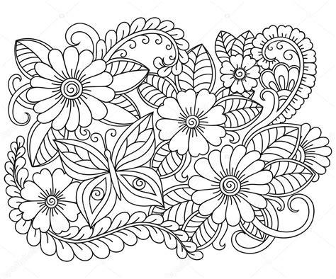 libro drawing flowers doodle el patr 243 n en blanco y negro patr 243 n de flores para colorear libro dibujo patr 243 n de