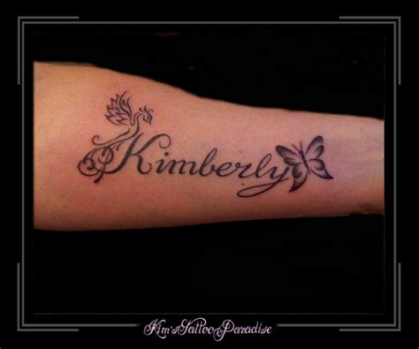 tattoo arm naam tekst kimberley
