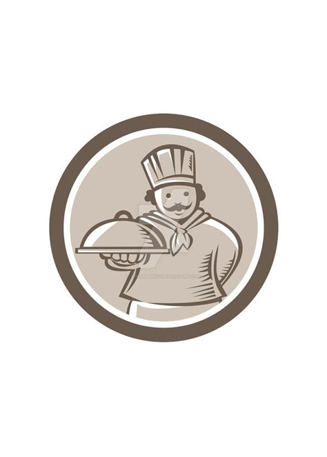 Circle Serving chef cook serving food platter circle by apatrimonio on